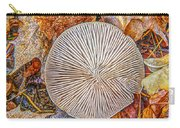Mushroom On Fall Floor Carry-all Pouch