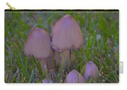 Mushrooms In Grass Carry-all Pouch