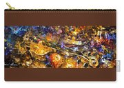 Music And Wine - Palette Knife Oil Painting On Canvas By Leonid Afremov Carry-all Pouch