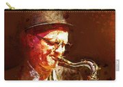 Music - Jazz Sax Player With A Hat Carry-all Pouch
