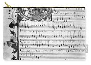 Music Manuscript, 1450 Carry-all Pouch