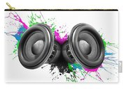 Music Speakers Colorful Design Carry-all Pouch