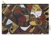 Musicality In Brown Carry-all Pouch