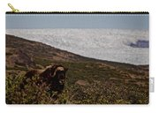 Musk Ox In Front Of Greenlandic Icecap Carry-all Pouch