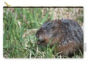 Muskrat Eating Carry-all Pouch