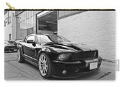 Mustang Alley In Black And White Carry-all Pouch