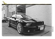 Mustang Alley In Black And White Carry-all Pouch by Gill Billington