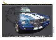 Mustang Shelby Gt-350, Blue And White Classic Car, Gift For Men Carry-all Pouch