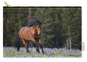 Mustang Stallion And Lupines Carry-all Pouch