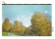 Mustard Yellow Trees And Landscape Carry-all Pouch