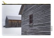 Musterfield Farm North Sutton Nh Old Buildings In The Snow Carry-all Pouch