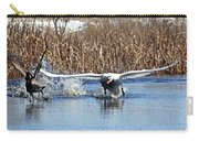 Mute Swan Chasing Canada Goose Carry-all Pouch