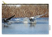 Mute Swan Chasing Canada Goose I Carry-all Pouch