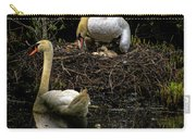 Mute Swan Family Carry-all Pouch
