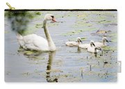 Mute Swan With Cygnets Carry-all Pouch