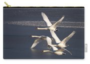 Mute Swans In Flight Carry-all Pouch