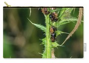 Mutualism - Ants And Treehoppers Carry-all Pouch