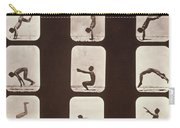 Muybridge Locomotion Back Hand Spring Carry-all Pouch by Photo Researchers