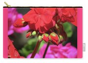 My Beautiful Geraniums And Buds - Images From The Garden Carry-all Pouch