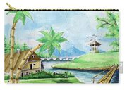 My First Landscape Watercolor Painting At The Age Of 18 Carry-all Pouch