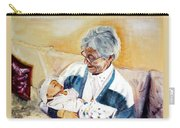 my granddaughter Leonie with her great grandmum Carry-all Pouch