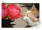 My Kitty In Love With A Peony Carry-all Pouch