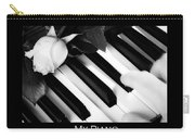 My Piano Bw Fine Art Photography Print Carry-all Pouch