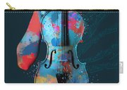 My Violin Whispers Music In The Night Carry-all Pouch by Nikki Marie Smith
