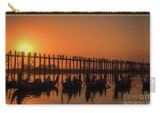 Myanmar. Taungthaman Lake. U Bein Bridge. Sunset. Carry-all Pouch