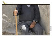 Mykonos Man With Walking Stick Carry-all Pouch