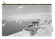 Mylor Quay In Cornwall Monochrome Carry-all Pouch