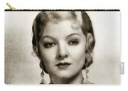Myrna Loy, Vintage Actress Carry-all Pouch