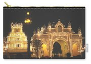 Mysore Palace Main Gate Temple Gloriously Lit At Night Carry-all Pouch