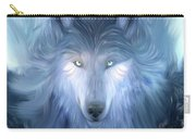 Mysterious Wolf Hand Painted Carry-all Pouch