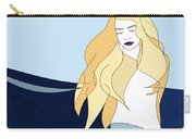 Naiades - Goddess Of The Seas- Beautiful Woman Portrait Minimalist Drawing Carry-all Pouch