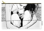 Naked Woman Comic Illustration Carry-all Pouch