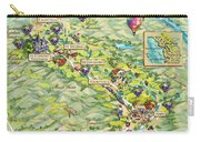 Napa Valley Illustrated Map Carry-all Pouch