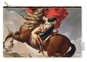 Napoleon Crossing The Alps Carry-all Pouch by Jacques Louis David