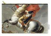Napoleon Crossing The Alps, Jacques Louis David, From The Original Version Of This Painting  Carry-all Pouch