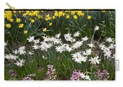 Narcissus And Daffodils In A Spring Flowerbed Carry-all Pouch