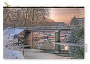 Narrow Boats Under The Bridge Carry-all Pouch by Gill Billington