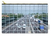 Narrow Depth Of Field Looking Down From Railing Onto Busy Highway Carry-all Pouch