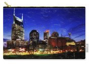 Nashville At Twilight Carry-all Pouch by Dean Wittle