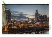 Nashville Broadway Street Shelby Street Bridge Downtown Cityscape Art Carry-all Pouch