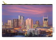 Nashville Skyline At Dusk 2018 Panorama Color Carry-all Pouch