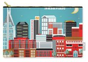 Nashville Tennessee Horizontal Skyline Carry-all Pouch