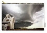 Nasty Looking Cumulonimbus Cloud Behind Grain Elevator Carry-all Pouch