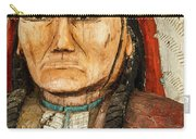 Native American Chief With Pipe Carry-all Pouch