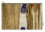 Native American Great Plains Indian Clothing Artwork Vertical 06 Carry-all Pouch