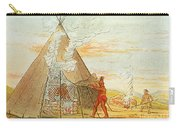 Native American Indian Sweat Lodge Carry-all Pouch by Science Source
